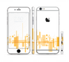 The Abstract Yellow Skyline View Sectioned Skin Series for the Apple iPhone 6/6s