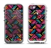 The Abstract Zig Zag Color Pattern Apple iPhone 5-5s LifeProof Fre Case Skin Set