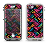 The Abstract Zig Zag Color Pattern Apple iPhone 5-5s LifeProof Nuud Case Skin Set