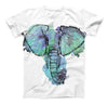 The African Sketch Elephant ink-Fuzed Unisex All Over Full-Printed Fitted Tee Shirt