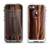 The Aged RedWood Texture Apple iPhone 5-5s LifeProof Fre Case Skin Set
