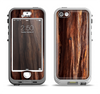 The Aged RedWood Texture Apple iPhone 5-5s LifeProof Nuud Case Skin Set