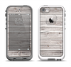 The Aged White Wood Planks Apple iPhone 5-5s LifeProof Fre Case Skin Set