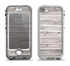 The Aged White Wood Planks Apple iPhone 5-5s LifeProof Nuud Case Skin Set