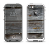 The Aged Wood Planks Apple iPhone 5-5s LifeProof Fre Case Skin Set