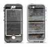 The Aged Wood Planks Apple iPhone 5-5s LifeProof Nuud Case Skin Set