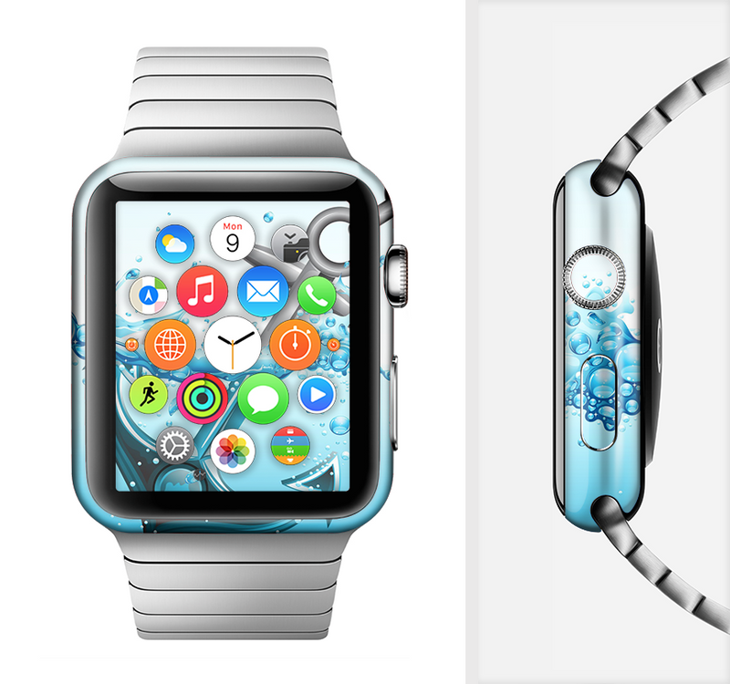 The Anchor Splashing Full-Body Skin Set for the Apple Watch