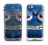 The Angry Blue Fury Monster Apple iPhone 5-5s LifeProof Fre Case Skin Set