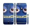 The Angry Blue Fury Monster Sectioned Skin Series for the Apple iPhone 6/6s Plus