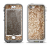 The Antique Floral Lace Pattern Apple iPhone 5-5s LifeProof Nuud Case Skin Set