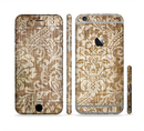 The Antique Floral Lace Pattern Sectioned Skin Series for the Apple iPhone 6/6s Plus