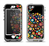 The Apple Icon Floral Collage Apple iPhone 5-5s LifeProof Nuud Case Skin Set