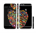 The Apple Icon Floral Collage Sectioned Skin Series for the Apple iPhone 6/6s Plus