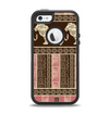 The Aztec Pink & Brown Lion Pattern Apple iPhone 5-5s Otterbox Defender Case Skin Set