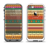 The Aztec Tribal Vintage Tan and Gold Pattern V6 Apple iPhone 5-5s LifeProof Fre Case Skin Set
