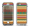 The Aztec Tribal Vintage Tan and Gold Pattern V6 Apple iPhone 5-5s LifeProof Nuud Case Skin Set