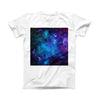 The Azure Nebula ink-Fuzed Front Spot Graphic Unisex Soft-Fitted Tee Shirt