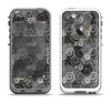 The Back & White Abstract Swirl Pattern Apple iPhone 5-5s LifeProof Fre Case Skin Set