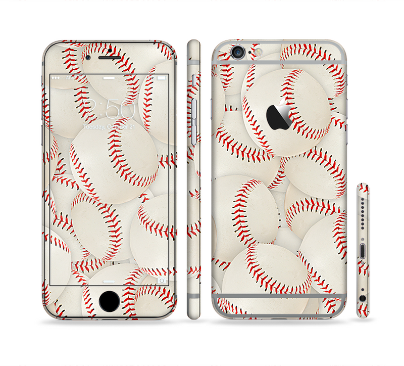 The Baseball Overlay Sectioned Skin Series for the Apple iPhone 6/6s Plus