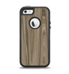 The Beige Woodgrain Apple iPhone 5-5s Otterbox Defender Case Skin Set