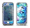 The Black & Bright Color Floral Pastel Apple iPhone 5-5s LifeProof Nuud Case Skin Set