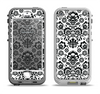 The Black Floral Delicate Pattern Apple iPhone 5-5s LifeProof Nuud Case Skin Set