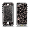 The Black Floral Lace Apple iPhone 5-5s LifeProof Nuud Case Skin Set