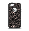 The Black Floral Lace Apple iPhone 5-5s Otterbox Defender Case Skin Set