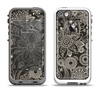 The Black Floral Laced Pattern V2 Apple iPhone 5-5s LifeProof Fre Case Skin Set