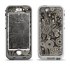 The Black Floral Laced Pattern V2 Apple iPhone 5-5s LifeProof Nuud Case Skin Set