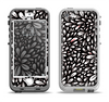 The Black Floral Sprout Apple iPhone 5-5s LifeProof Nuud Case Skin Set