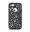 The Black Floral Sprout Apple iPhone 5-5s Otterbox Defender Case Skin Set