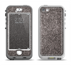 The Black Glitter Ultra Metallic Apple iPhone 5-5s LifeProof Nuud Case Skin Set