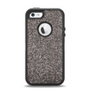The Black Glitter Ultra Metallic Apple iPhone 5-5s Otterbox Defender Case Skin Set