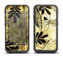 The Black & Gold Grunge Leaf Surface Apple iPhone 6/6s LifeProof Fre Case Skin Set