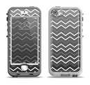The Black Gradient Layered Chevron Apple iPhone 5-5s LifeProof Nuud Case Skin Set