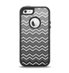 The Black Gradient Layered Chevron Apple iPhone 5-5s Otterbox Defender Case Skin Set