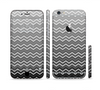 The Black Gradient Layered Chevron Sectioned Skin Series for the Apple iPhone 6/6s