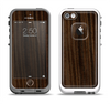 The Black Grained Walnut Wood Apple iPhone 5-5s LifeProof Fre Case Skin Set