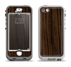 The Black Grained Walnut Wood Apple iPhone 5-5s LifeProof Nuud Case Skin Set