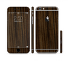 The Black Grained Walnut Wood Sectioned Skin Series for the Apple iPhone 6/6s