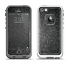 The Black & Gray Dark Lace Floral Apple iPhone 5-5s LifeProof Fre Case Skin Set