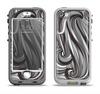 The Black & Gray Monochrome Pattern Apple iPhone 5-5s LifeProof Nuud Case Skin Set