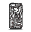 The Black & Gray Monochrome Pattern Apple iPhone 5-5s Otterbox Defender Case Skin Set