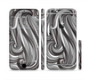 The Black & Gray Monochrome Pattern Sectioned Skin Series for the Apple iPhone 6/6s