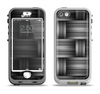 The Black & Gray Woven HD Pattern Apple iPhone 5-5s LifeProof Nuud Case Skin Set