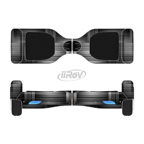 The Black & Gray Woven HD Pattern Full-Body Skin Set for the Smart Drifting SuperCharged iiRov HoverBoard