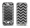 The Black Grayscale Layered Chevron Apple iPhone 5-5s LifeProof Nuud Case Skin Set