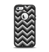The Black Grayscale Layered Chevron Apple iPhone 5-5s Otterbox Defender Case Skin Set