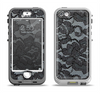 The Black Lace Texture Apple iPhone 5-5s LifeProof Nuud Case Skin Set